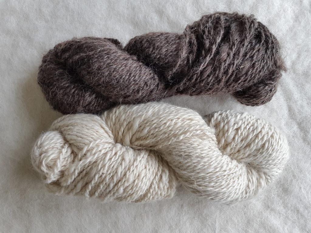 Fårull värmlandsfår vit brun