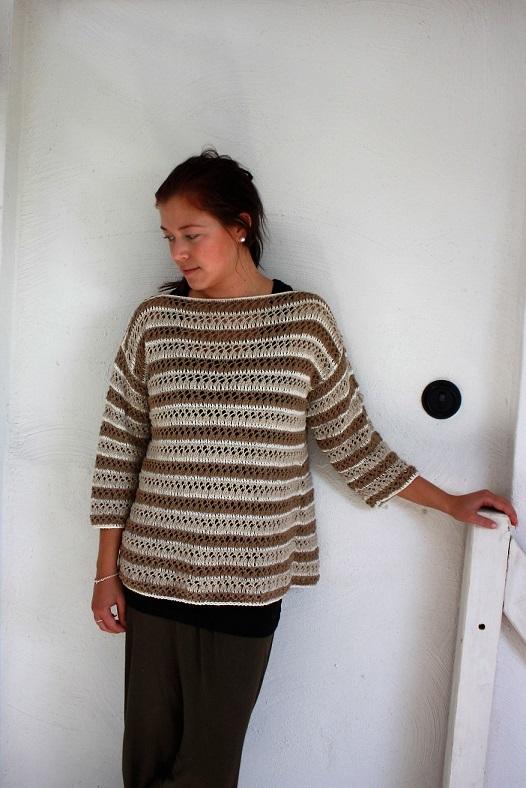 mönsterstickad tröja