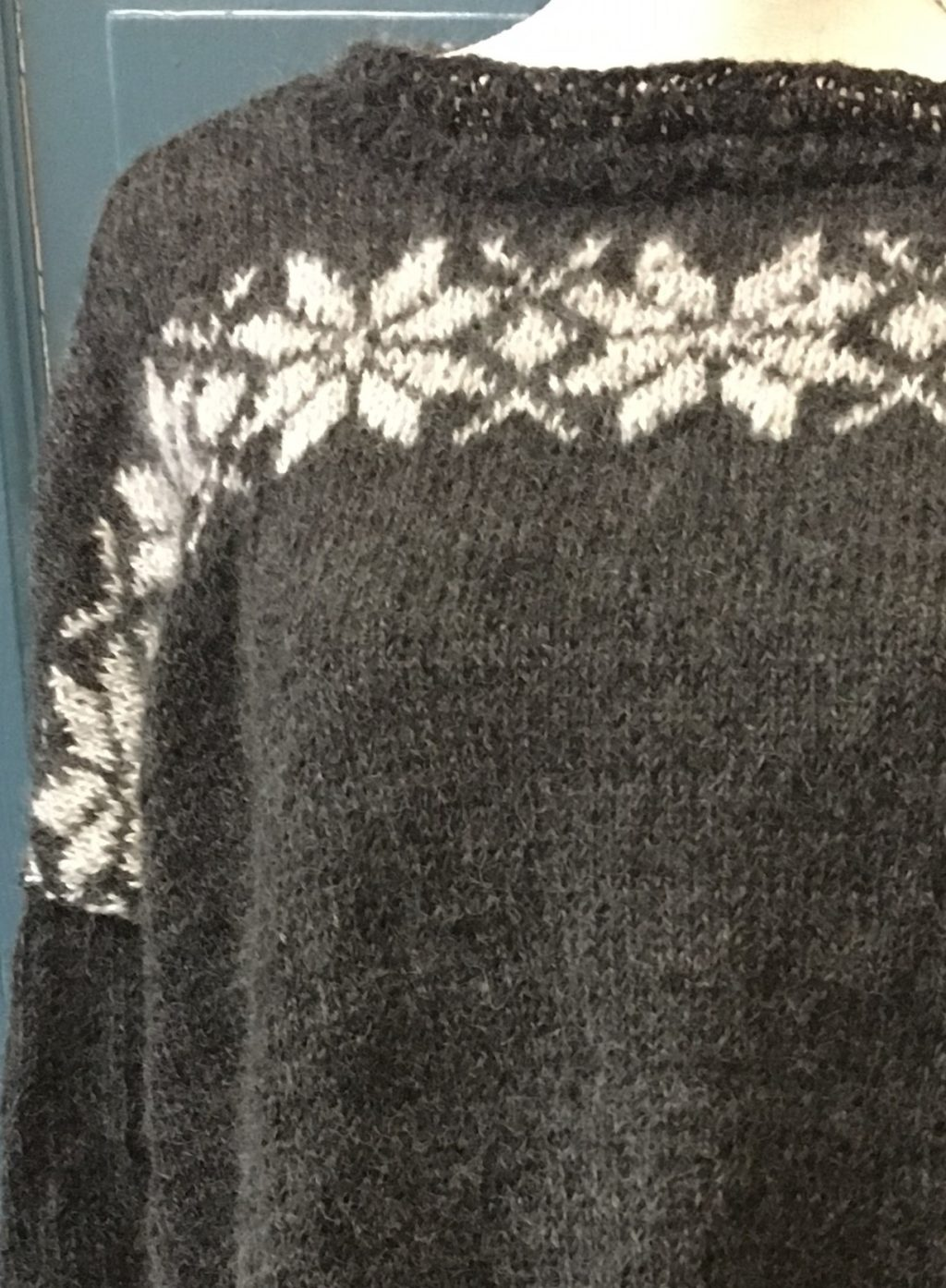 Stor härlig tröja i gotlandsull och alacka