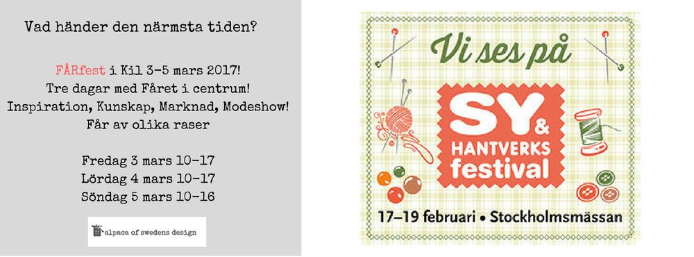 Sy och hantverksfestivalen i stockholm 2017
