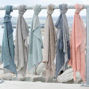 Alpacka & Linen two tone shawl