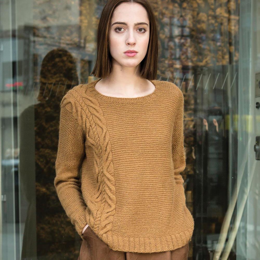Parkview tröja i design från The Fibre Co, stickkit