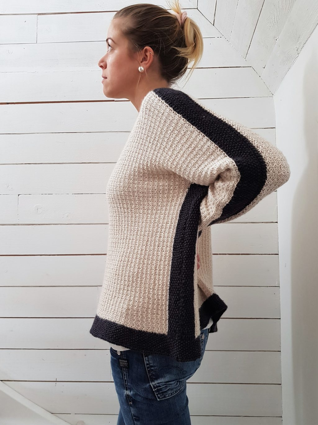 Heidi, tvärsticka tröja i Acadia