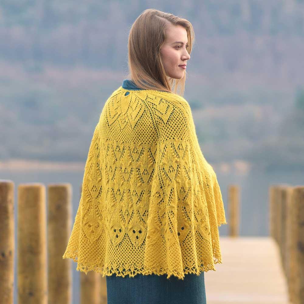 Lingholm sjal i Road to China lace garn, stickkit