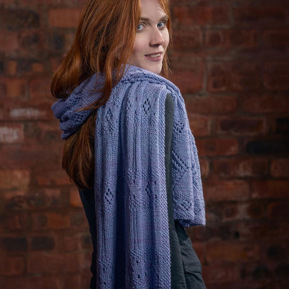 Lace Stole sjal i Canopy garn, stickkit